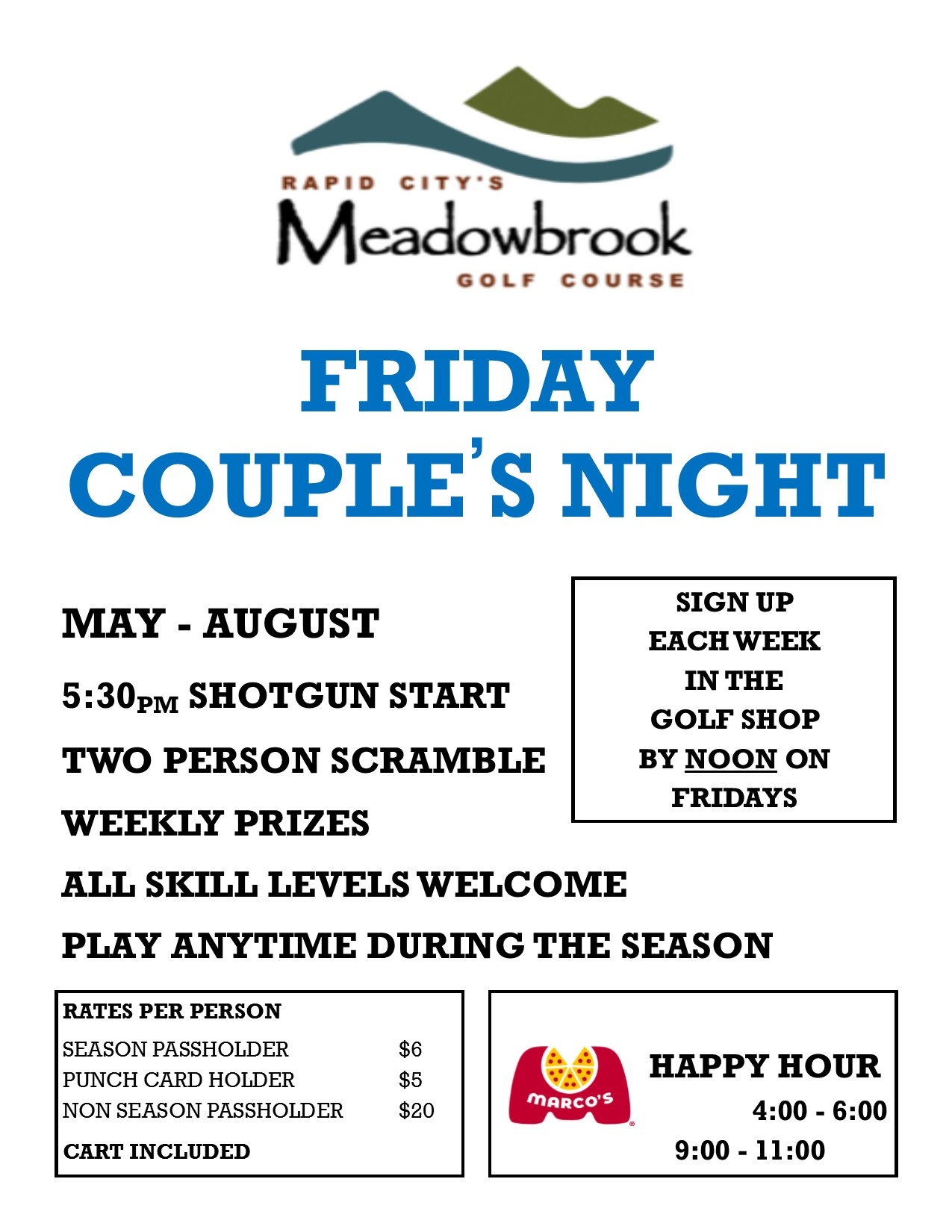 2019 Couples Night Flyer