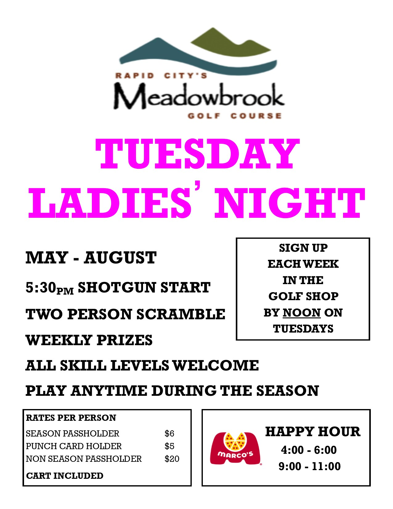 2019 Ladies Night Flyer